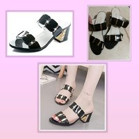 Used New low heels black sandals size 37 in Dubai, UAE