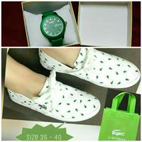 White Lacoste Shoes For Women HQC