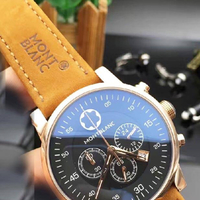 MONT BLANC replica Master Lather Strap Nice Good Quality Watch