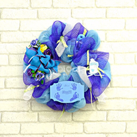 Baby boy decorative wreath
