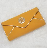 Brand new golden clutch medium size
