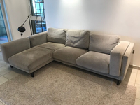 Used IKEA Nockeby L-shaped sofa in Dubai, UAE