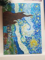 "Used ""The Starry night inspired by V.Van Gogh in Dubai, UAE"