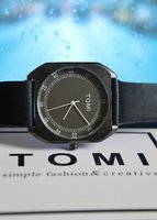 Used 》Original TOMI Leather Watch □✅BAG  ✅Box in Dubai, UAE