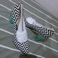 Used High heel in black and white colore in Dubai, UAE