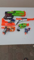 Used NERF 5pieces with 8bullets in Dubai, UAE