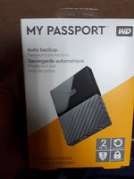 WD 2 TB MY PASSPORT HDD