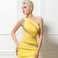 Used Yellow Brides Maids Dress in Dubai, UAE