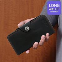 Bovis & Co Long Wallet For Men, Black