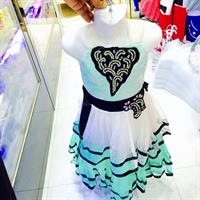 Beuty Dress For Kids White And Green Colour Mix Good Colour ,Cloth And Design Hurry!!!!!!!!!