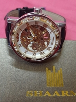 Used Shaarms men's mechanical leather watch in Dubai, UAE