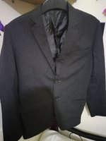 Used Suit only used once Charcole Black in Dubai, UAE
