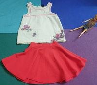 Used Pre-love tops and skirt for kids in Dubai, UAE