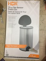 Used HDX 13 gal tap sensor trash can in Dubai, UAE