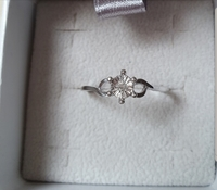 Used New real diamond ring in silver size 7us in Dubai, UAE