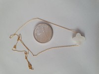 Used New real gold necklace with heart MOP in Dubai, UAE