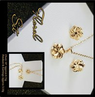 Floral 18K Italian Real Gold Set