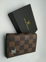 Louis Vuitton checked brown wallet