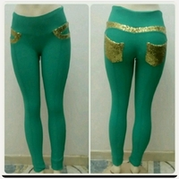 Used Brand New turquoise slimfit Long pant in Dubai, UAE
