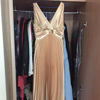 Used Gold Evening  Long Dress M-size Used Ones  in Dubai, UAE