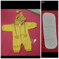 Used yellow striped jumpsuit & washable cloth in Dubai, UAE