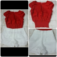 Used Fabulous RED top With White SHORT in Dubai, UAE