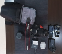 Used Canon EOS 700D DSLR camera w accessories in Dubai, UAE