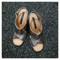 Used Brand New ZARA  Wedge Sandals in Dubai, UAE
