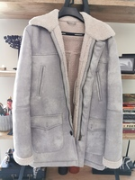 Used ZARA COAT WHITE DRYLEATHERLIKE MATERIAL in Dubai, UAE