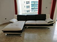 Used Leather Sofa (Home Center) two pieces. in Dubai, UAE