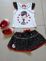 New baby girl skirt n top with shoes