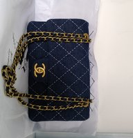 Used Quilted denim Chanel flap bag in Dubai, UAE