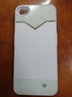 Battery bank cover for iphone 4 white
