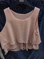 Sheer Sleeveless Top in Nude Pink