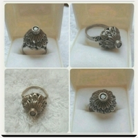 Used Old silver Ring with old Diamond Antique in Dubai, UAE
