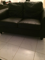 Used Leather black 2 seater sofa in Dubai, UAE