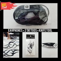Used Earphones |2 Tattoos |Folding Knife Tool in Dubai, UAE