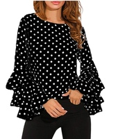 Used A beautiful dotted frill sleeves top in Dubai, UAE
