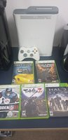 Used Xbox 360 (NTSC) + 1 controller + 5 games in Dubai, UAE