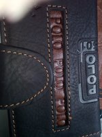 Used Original Leather (skin) wallet-Black in Dubai, UAE