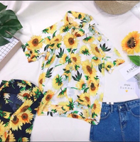 Brand new sunflower print top