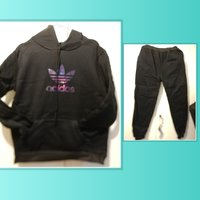 Used New Adidas black training suit size L in Dubai, UAE