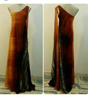 Long Dress Ofshoulder Orange Color Avail