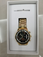 Used Power mechanical watch black gold new in Dubai, UAE