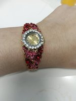 Used New bangle style ladies watch pink flowr in Dubai, UAE