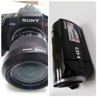 Used Combo- Sony camcorder CX380E & DSLR a300 in Dubai, UAE
