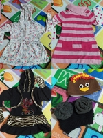 Used clothes 1y.o(dress) free caps in Dubai, UAE