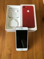Used I.Phone 7 128GB Red with complete Box in Dubai, UAE