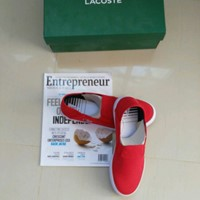 Red Lacoste Shoes NEW