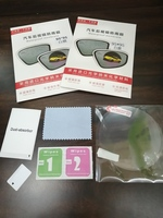 4 SETS! WING+REAR MIRROR FILM ROUND+OVAL